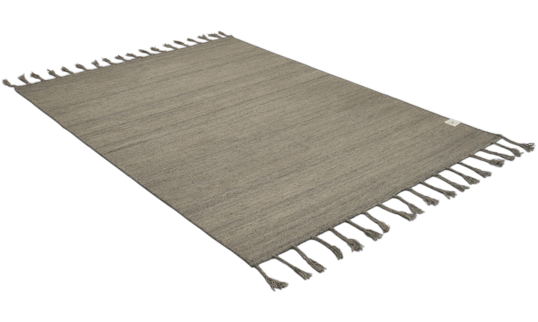 Plain grey - håndvevd ullteppe