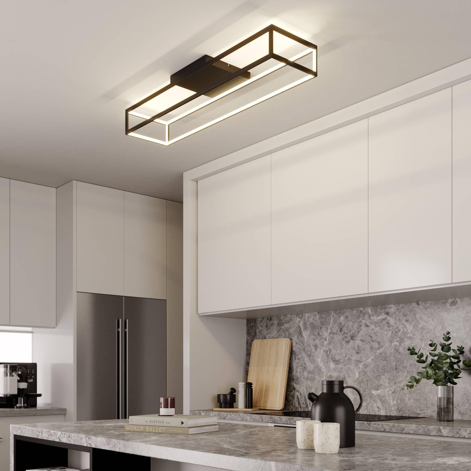 Lucande Byrana -LED-kattovalaisin suorakulmainen