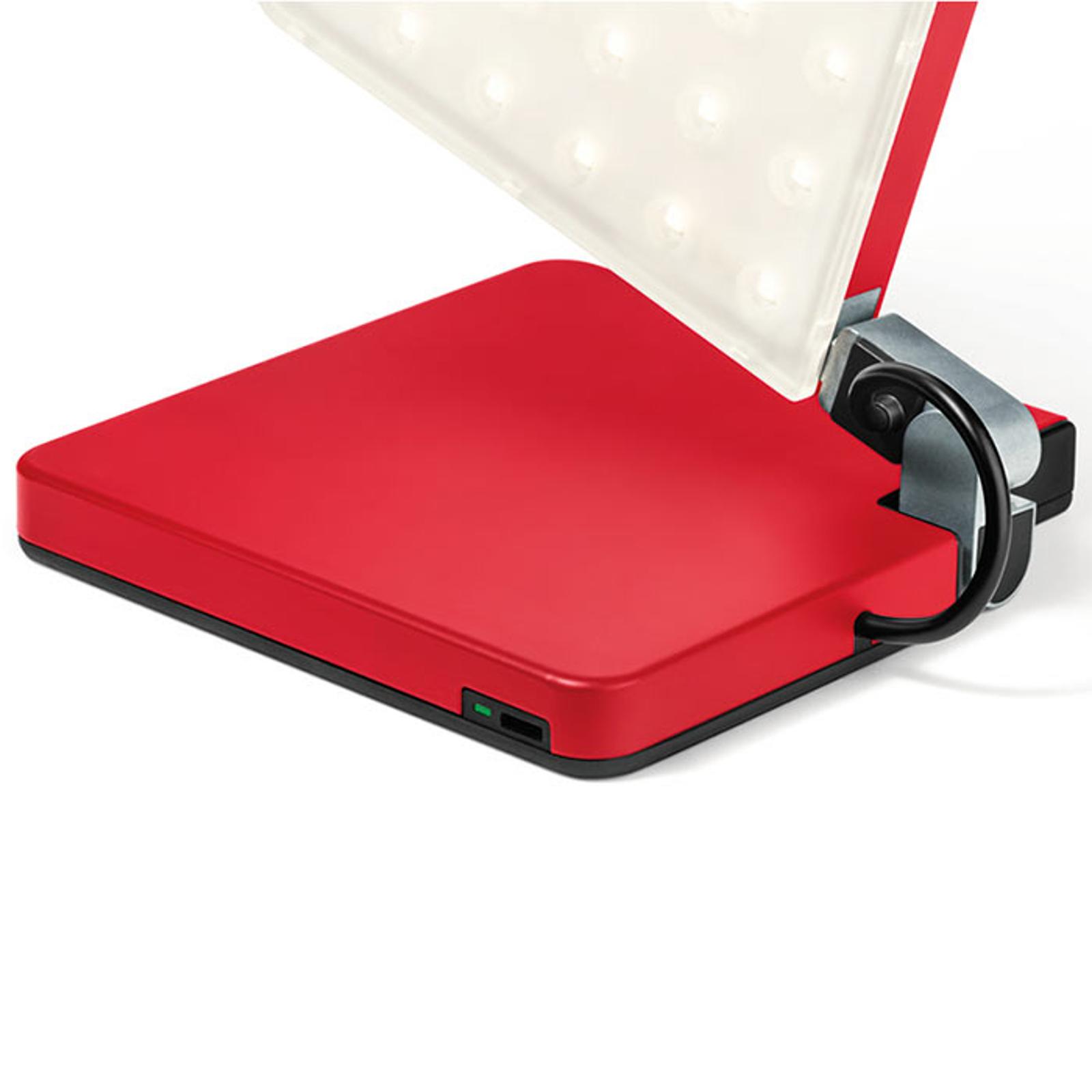 Nimbus Roxxane Fly LED-pöytävalaisin, punainen