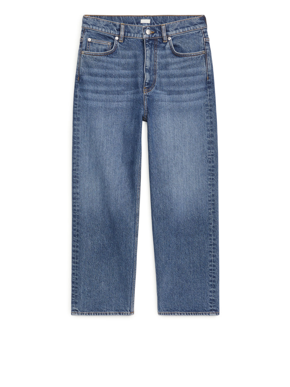 STRAIGHT CROPPED STRETCH Jeans - Blue