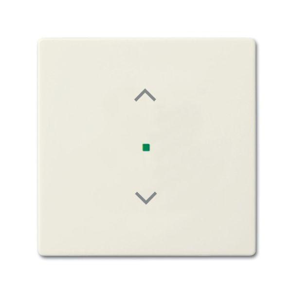 ABB Future Linear 6220-0-0586 Yksiosainen vipupainike verhoille Chalet-white