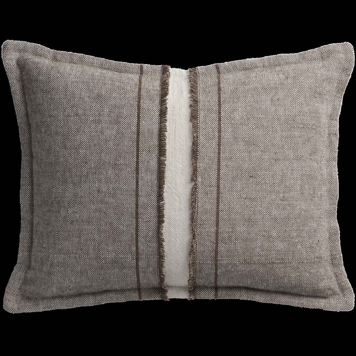 de Le Cuona | Haiku Cushion With Fringe Detail Bark