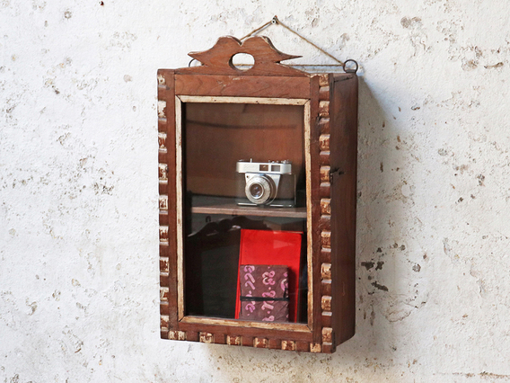Ornate Wall Cabinet Brown