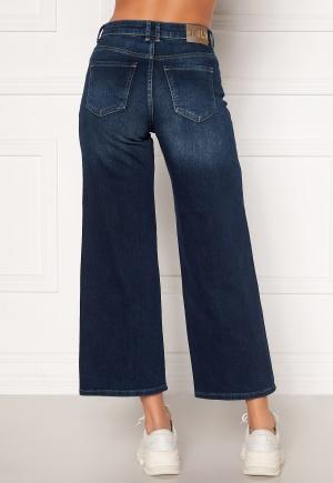 ONLY Madison HI Life Wide Crop Jeans Dark Denim Blue 29/32