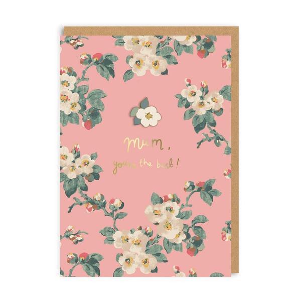 Mum Mayfield Blossom Enamel Pin Greeting Card