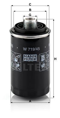Öljynsuodatin MANN-FILTER W 719/45