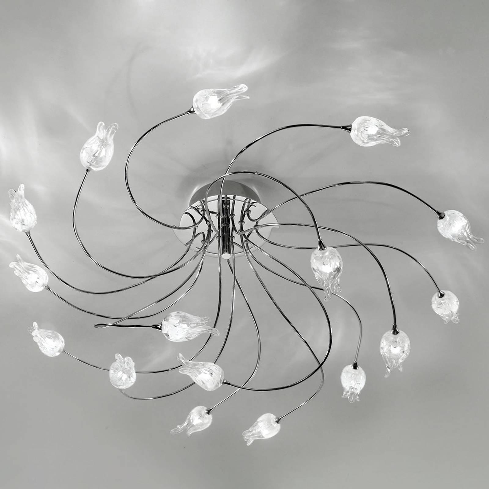 Taklampe 7132 krom, 16 lyskilder