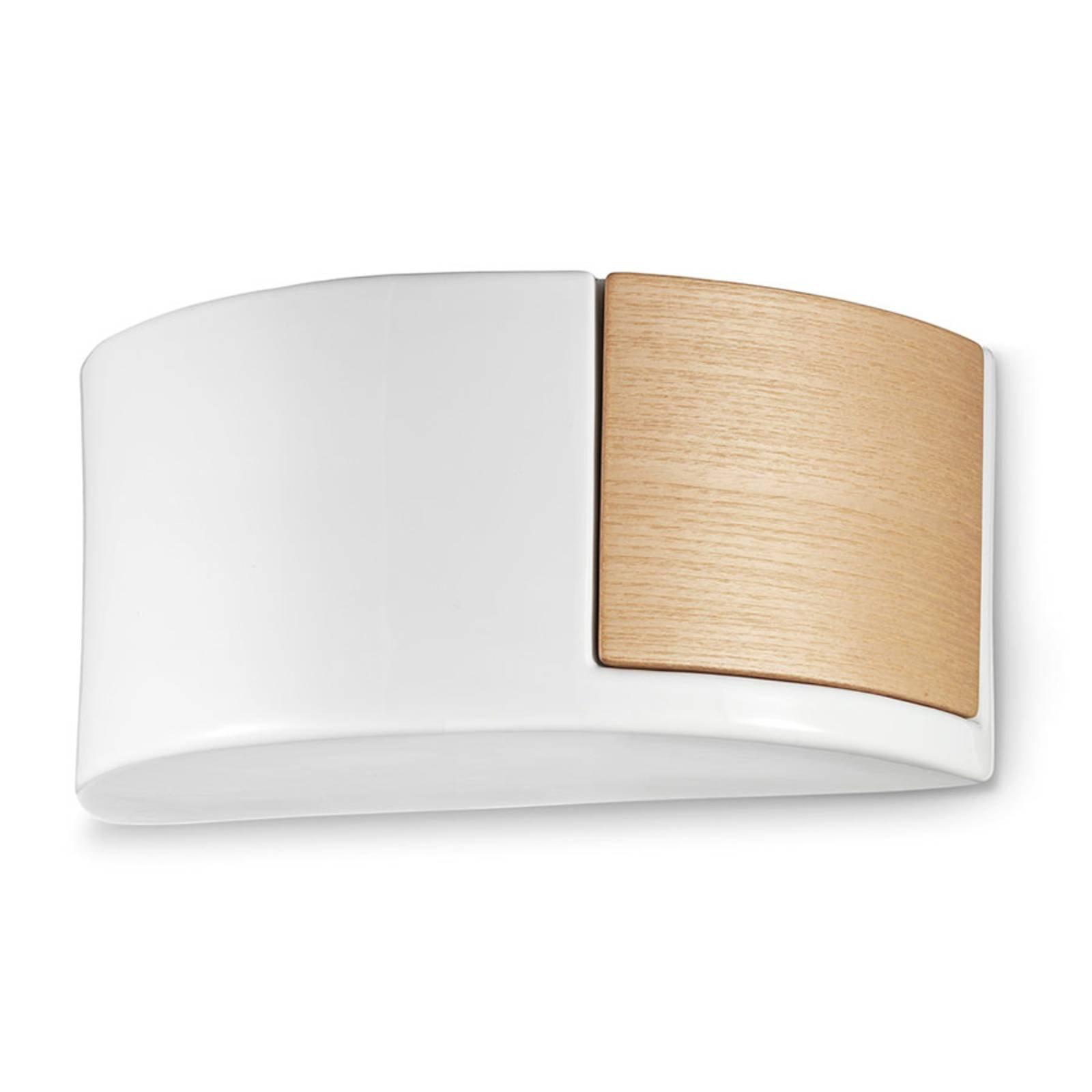 Nordisk vegglampe i keramikk C1795/27 hvit