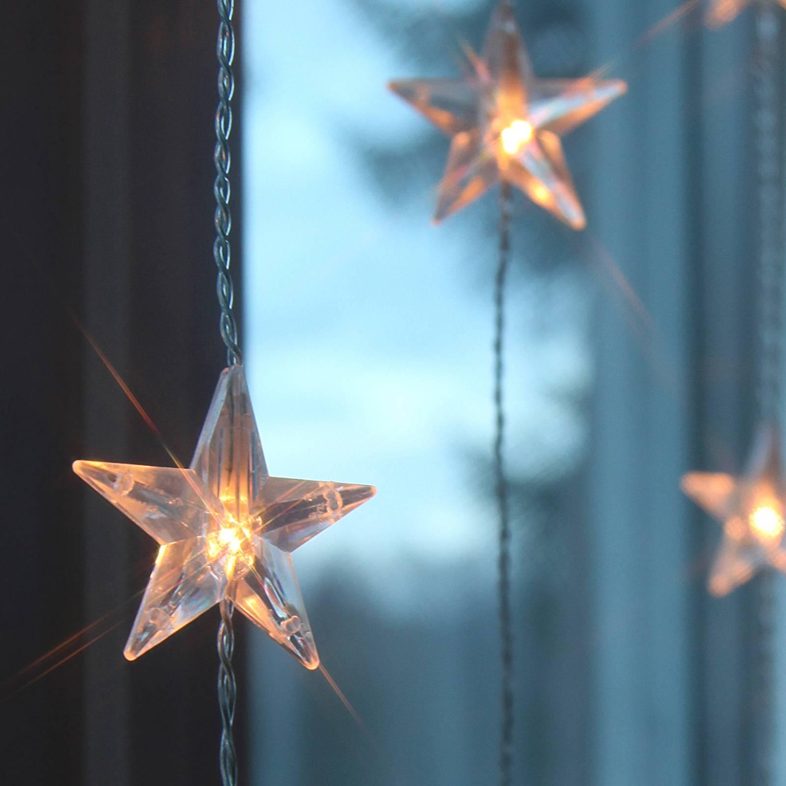 Star-LED-valoverho 20-lamppuinen, kymmenen lankaa