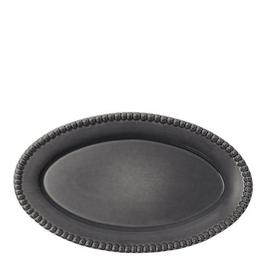 PotteryJo - Daria Fat Oval 35 cm Clean Grey