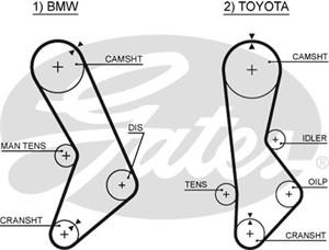 Hammashihna, BMW 3 [E21], 5 [E12], TOYOTA CRESSIDA Sedan, 1 128 157, 1 128 569, 1 131 297, 1128157, 1128569, 11311265524, 11311265525, 1