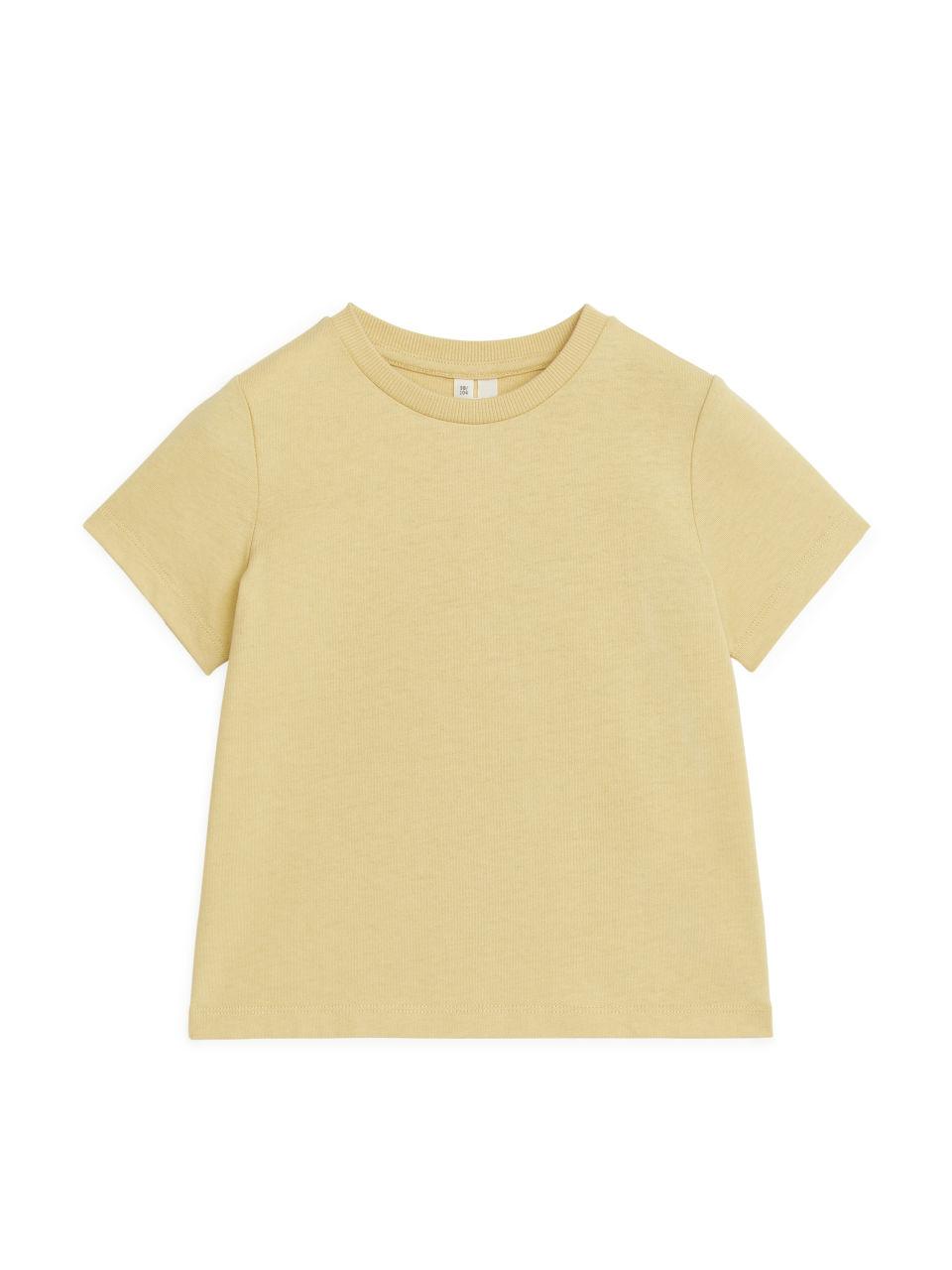 Natural Dye Cotton T-Shirt - Yellow