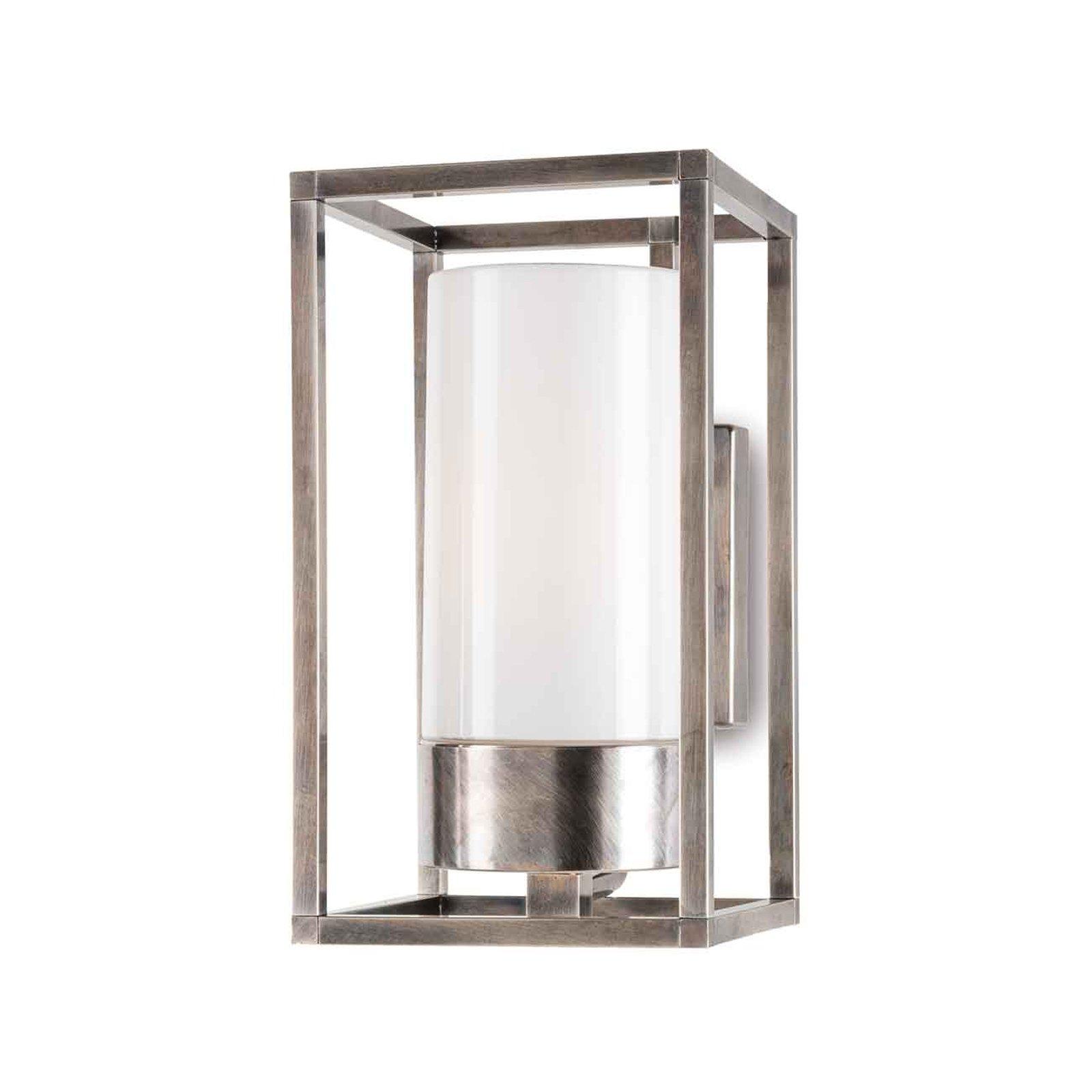 Cubic³ 3364 utendørs vegglampe antikk nikkel/opal