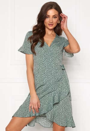 ONLY Olivia S/S Wrap Dress Chinois Green 34