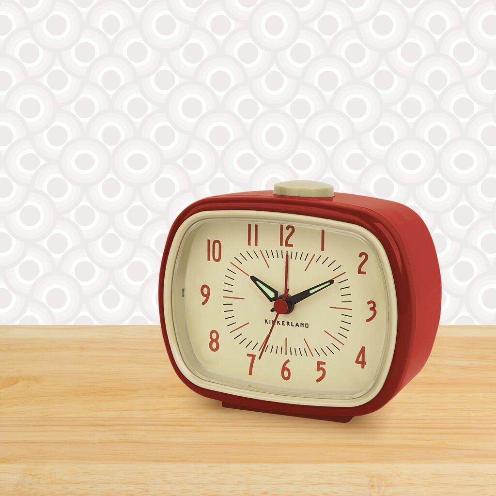 Retro Alarm Clock + Red (AC08-R-EU)