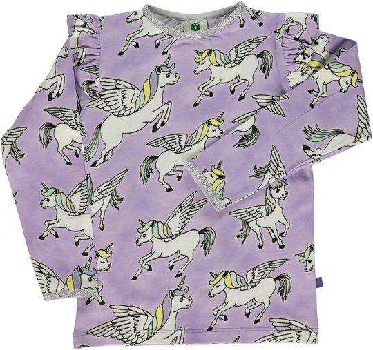 Småfolk Enhjørning T-Skjorte, Purple Heart 1-2år