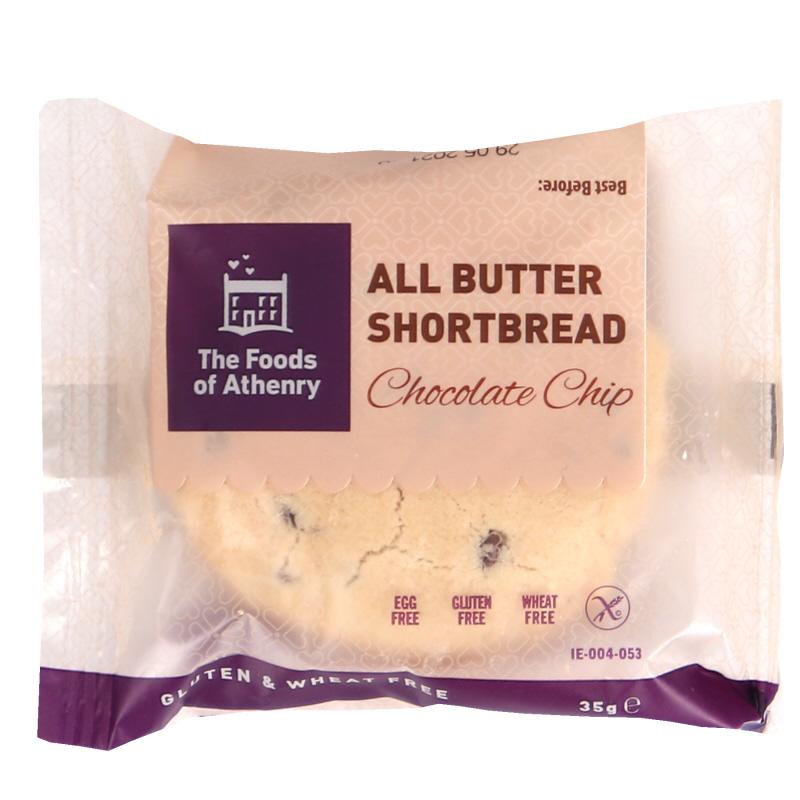 Glutenfri Shortbread Chocolate Chip Cookie - 25% rabatt