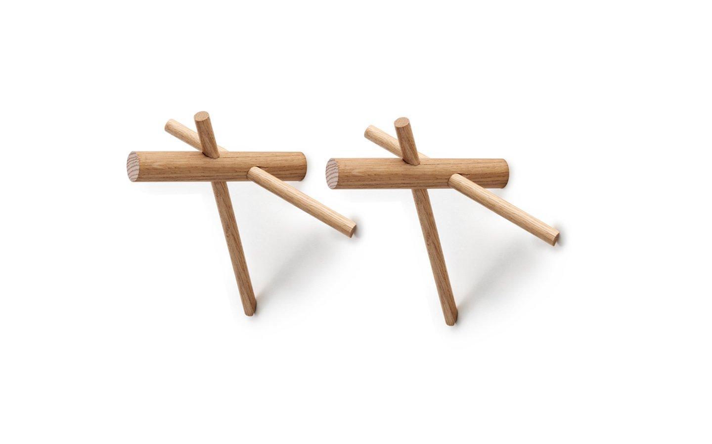 Normann Copenhagen - Sticks Hooks set of 2 - Nature (380505)