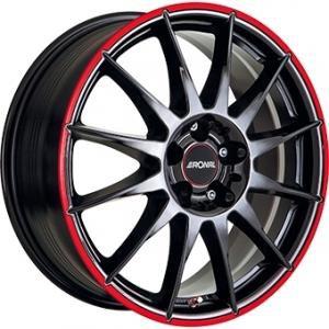 RONAL R54 MCR Gloss Black Red 7x16 5/100 ET38 B68
