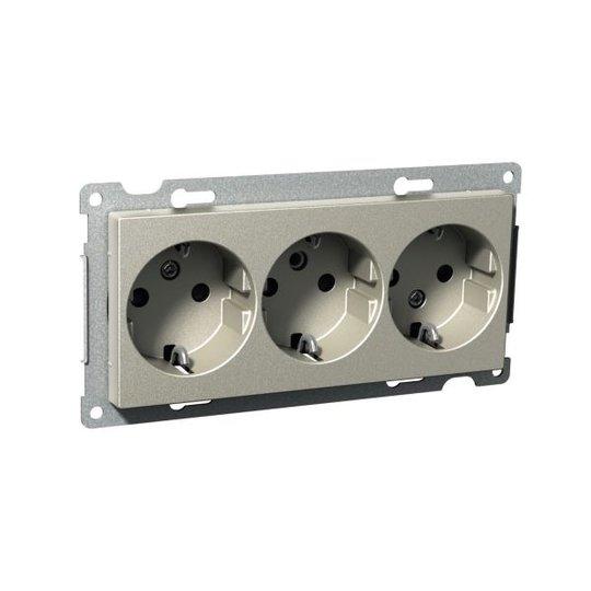 Schneider Electric Exxact Seinäpistorasia 250 V, maadoitettu 3-osainen pistorasia
