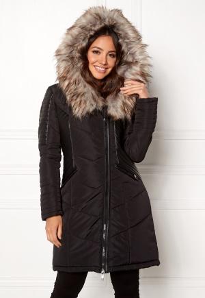 ONLY Linette Fur Hood Coat Black XS
