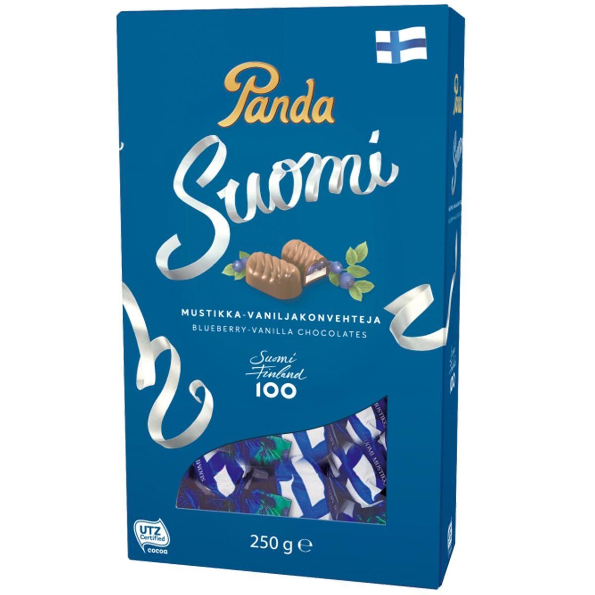 Suklaakonvehteja Mustikka & Vanilja - 31% alennus