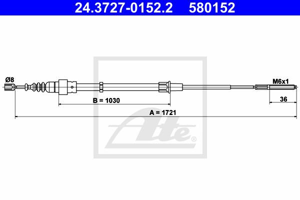 Käsijarruvaijeri ATE 24.3727-0152.2