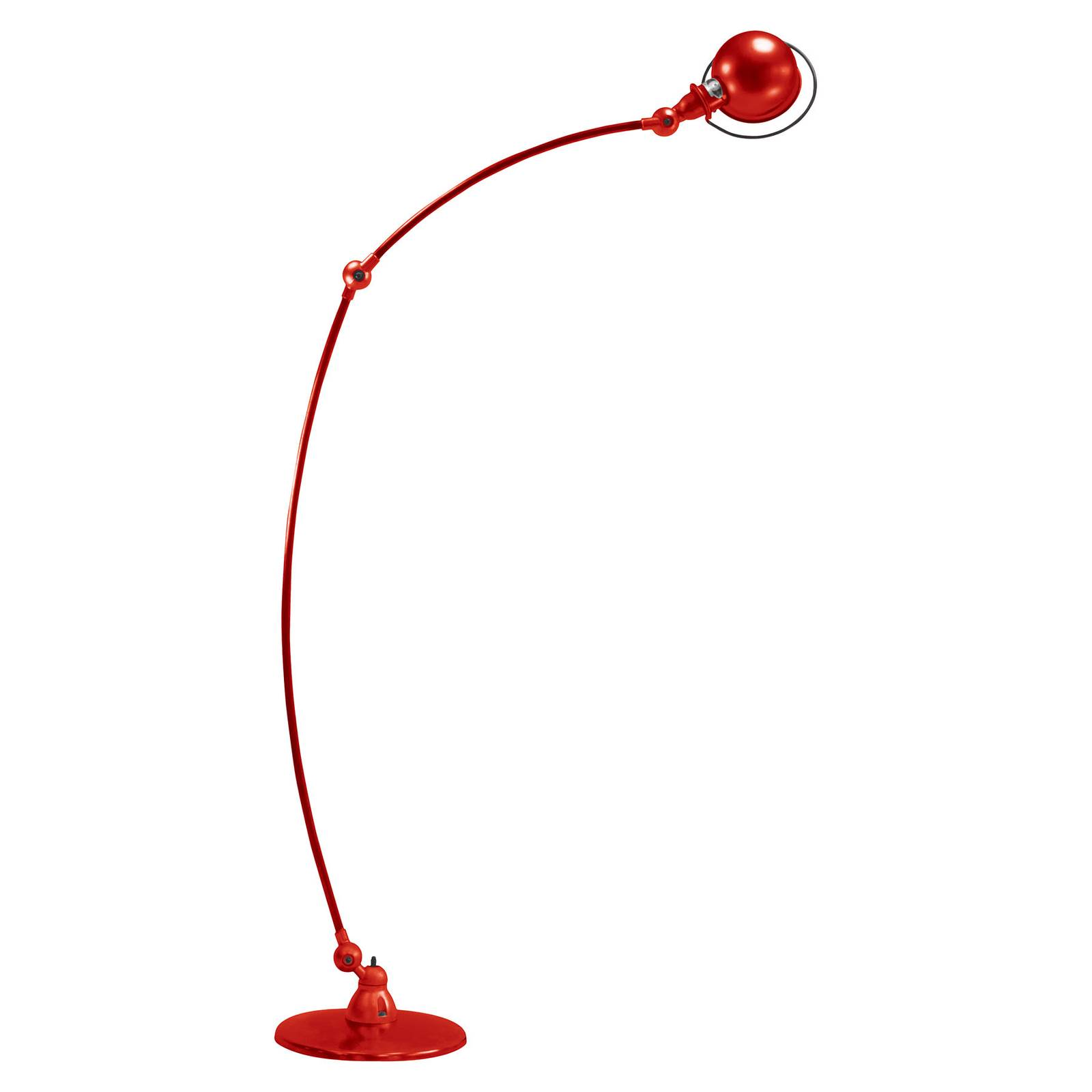 Jieldé Loft C1260 -lattiavalaisin kaareva punainen