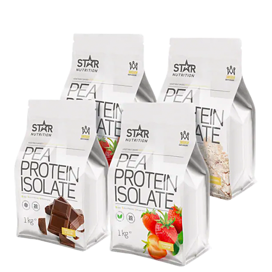 Pea Protein Isolate Mix & Match, 4 x 1 kg