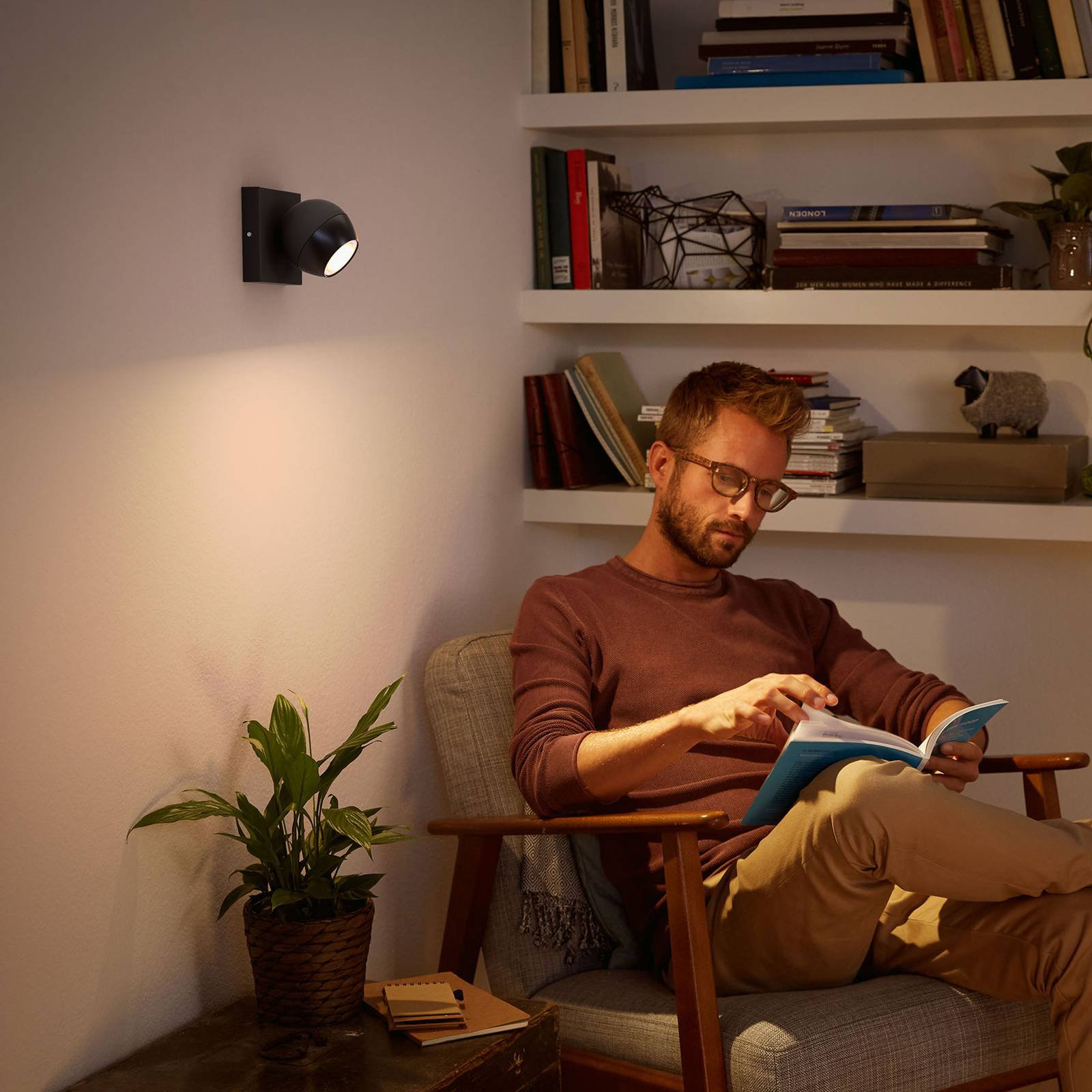 Philips Hue Buckram LED-spot svart, utvidelse