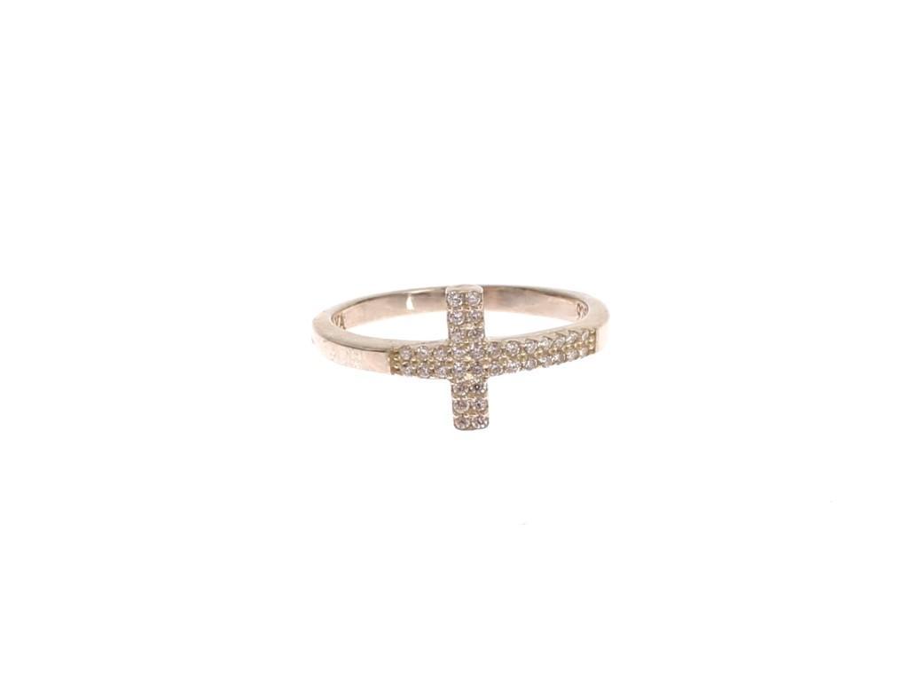 Nialaya Women's CZ Cross 925 Ring Silver NIA20369 - EU56 | US8