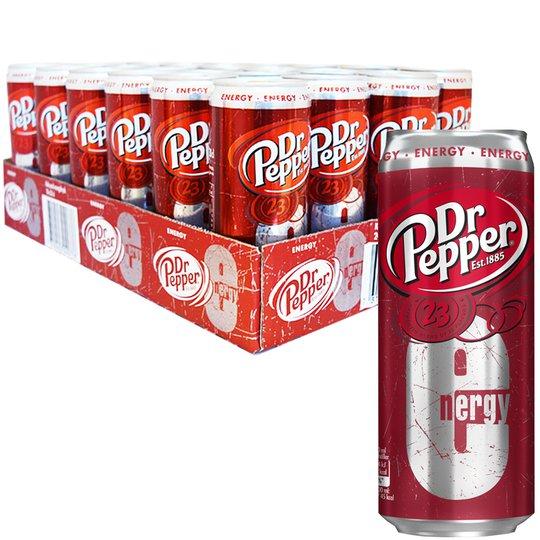 "Hel Platta ""Dr Pepper Energy"" 24 x 33cl - 84% rabatt"