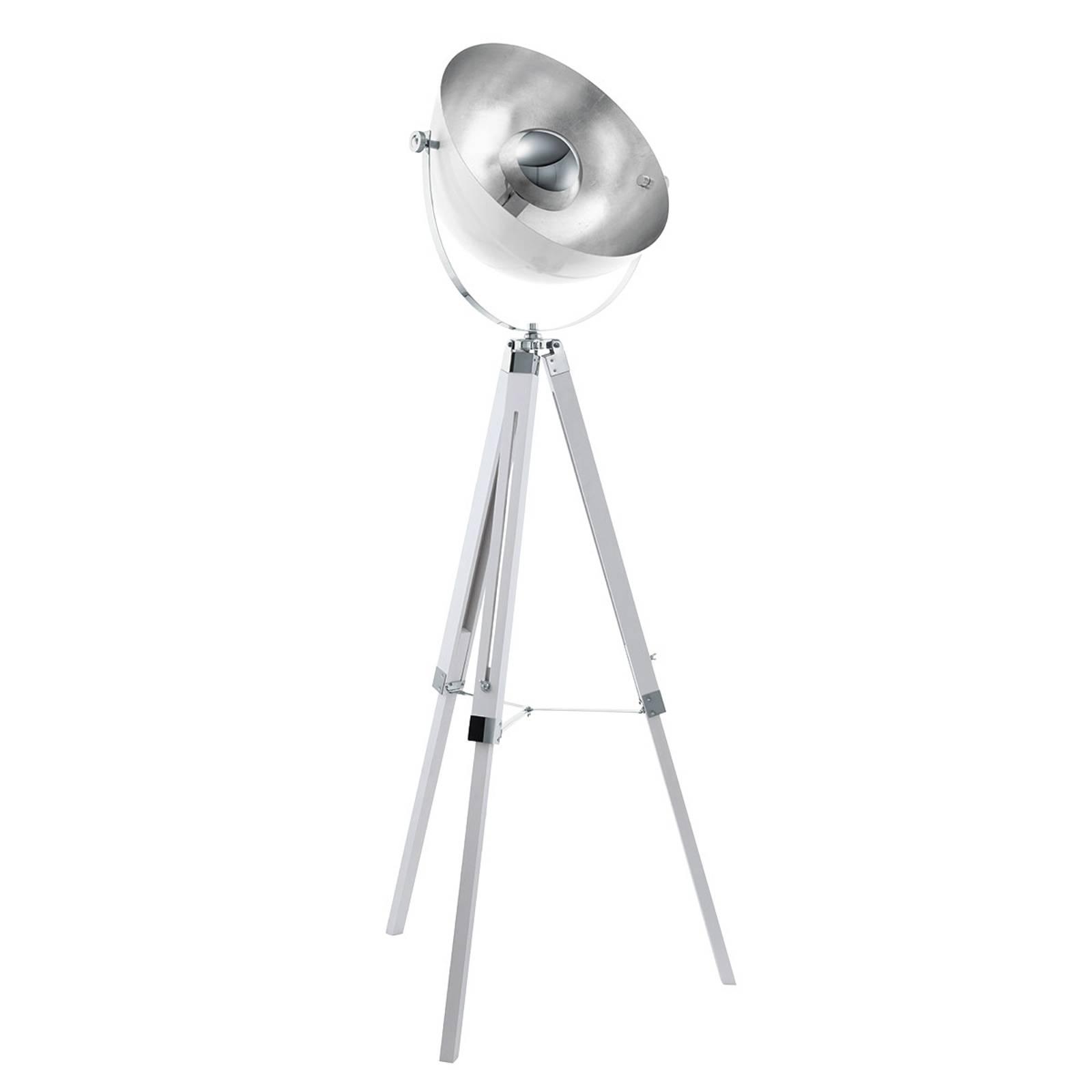 Lattiavalaisin Covaleda kolmijalka valkoinen/hopea