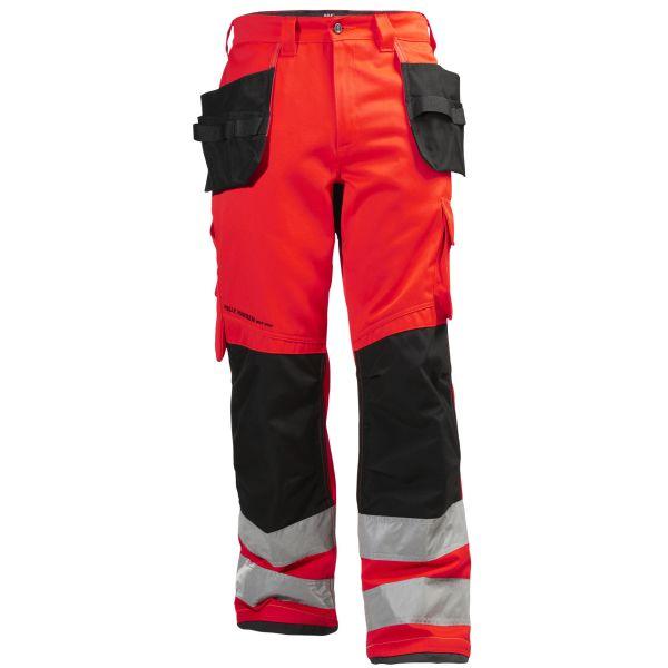 Helly Hansen Workwear Alna Työhousut huomioväri, punainen/musta C54