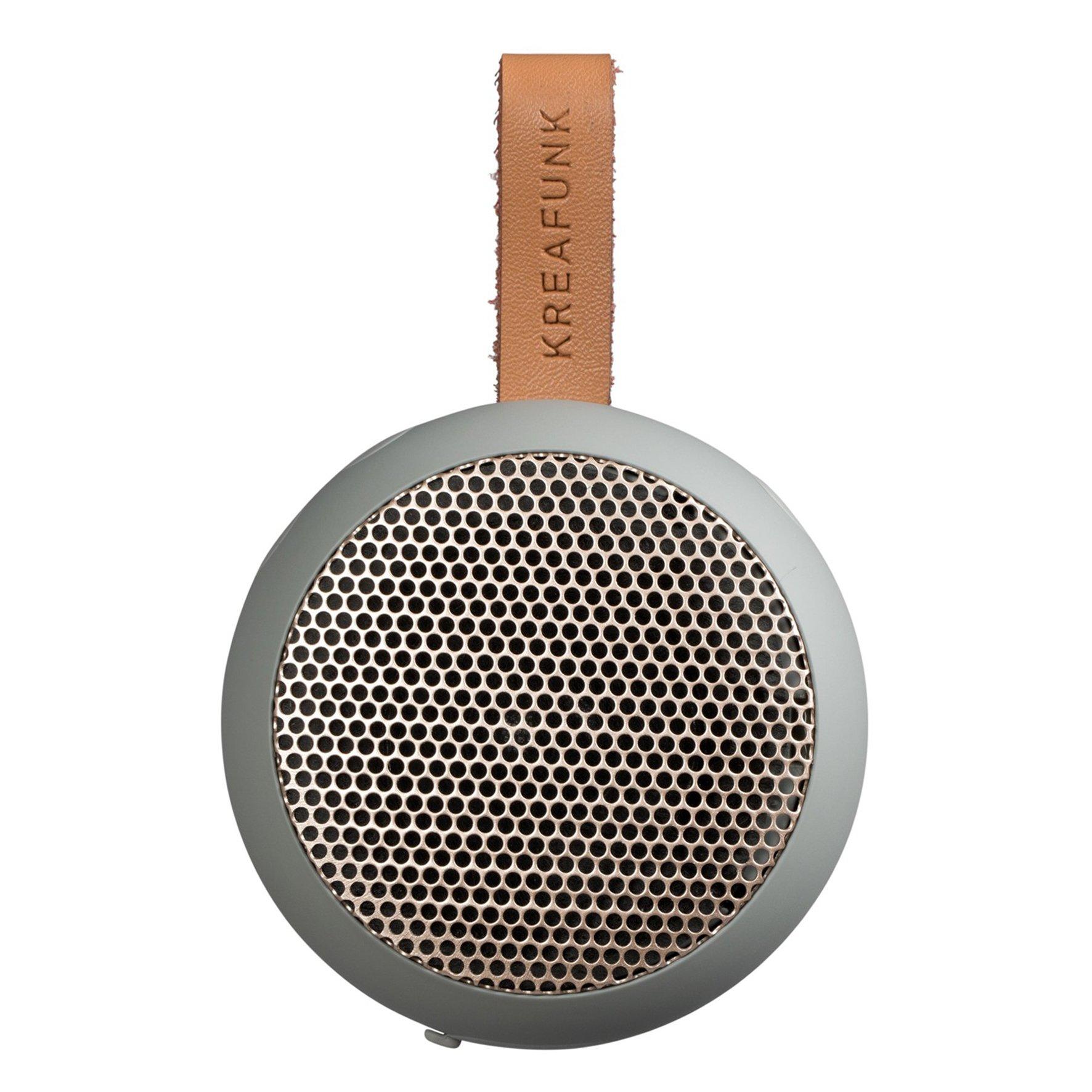 KreaFunk - aGO Bluetooth Speaker - Cool Grey/Rose Gold Grill (Kfwt34)
