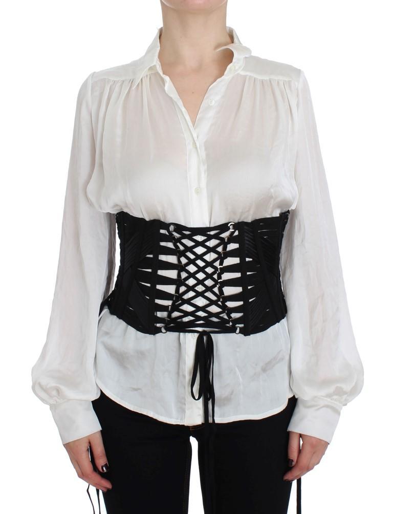 Dolce & Gabbana Women's Stretch Waist Corset Belt Black NOC10384 - IT48|XXL