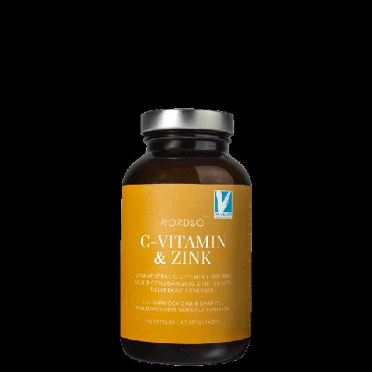 Nordbo C-vitamin & Zink, 100 kapslar
