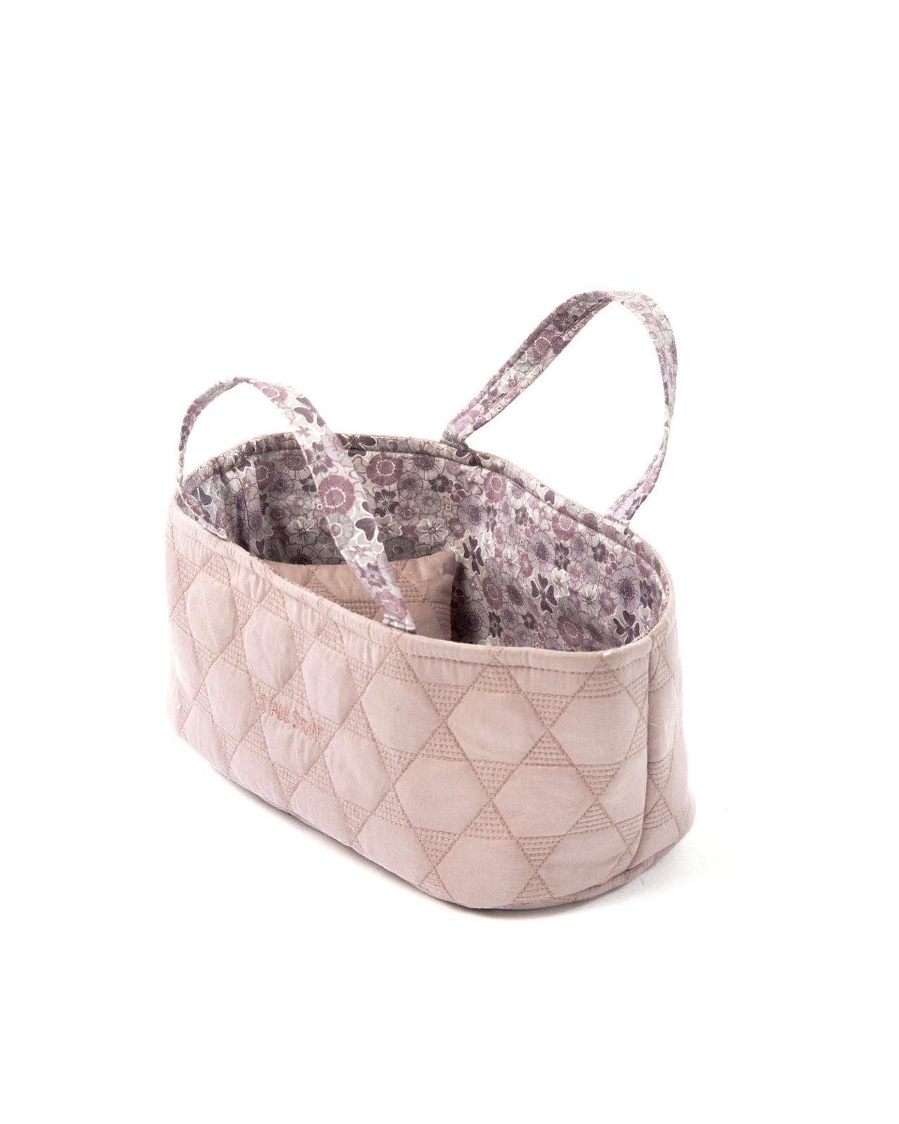 Smallstuff - Small Doll Basket - Rose