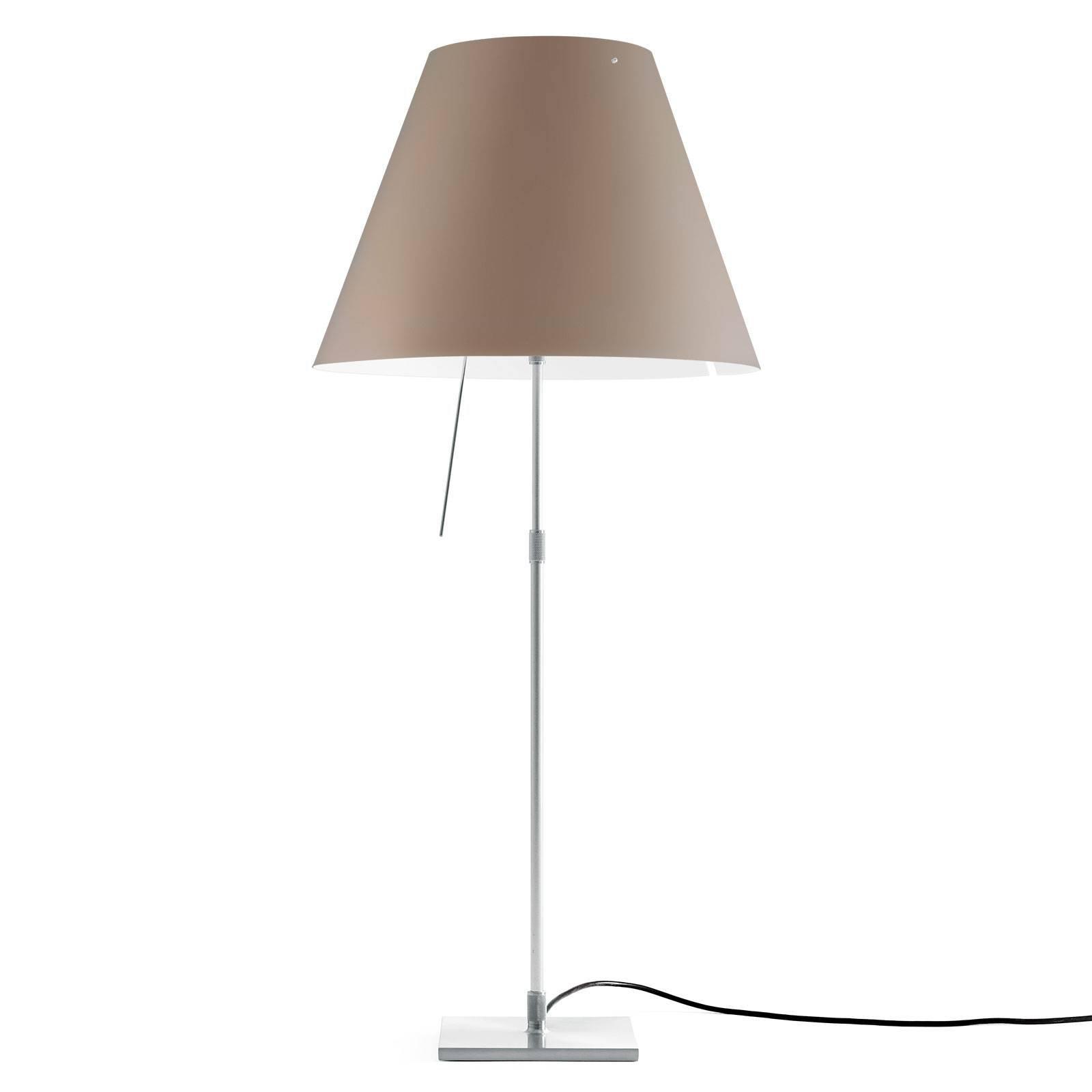 Luceplan Costanza bordlampe D13 aluminium/nougat