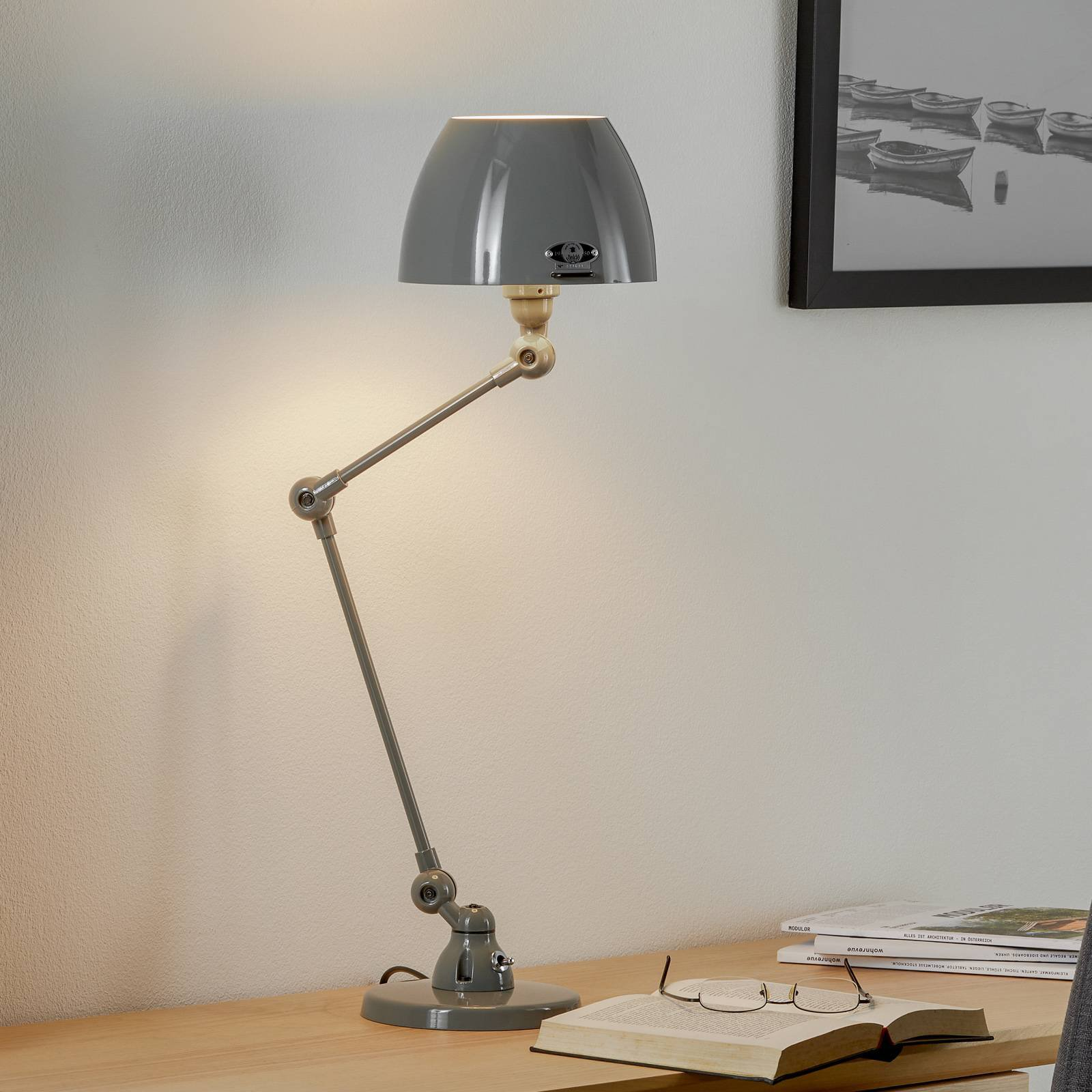 Jieldé Aicler AIC373 bordlampe, grå