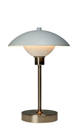 Dyberg-Larsen - Roma Table Lamp Rechageable. 2800 K - White/Steel (7111)
