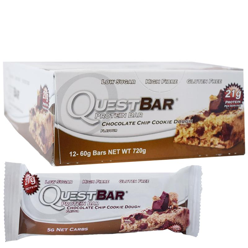 "Hel Låda Proteinbars ""Chocolate Chip Cookie Dough"" 12 x 60g - 32% rabatt"