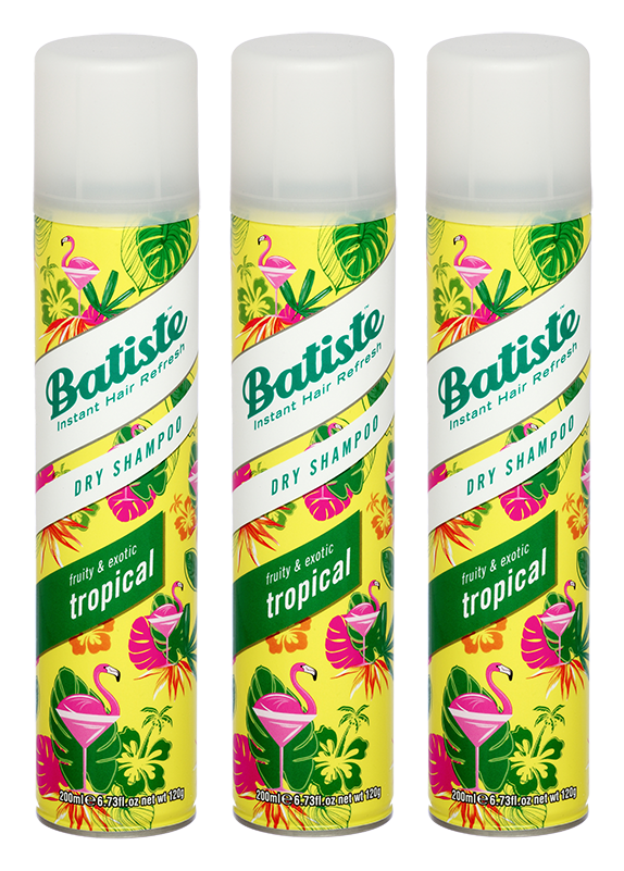 Batiste - 3 x Dry Shampoo Tropical 200ml