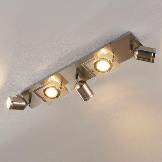 Viisilamppuinen LED-kattovalaisin Fjolla, himmenn.