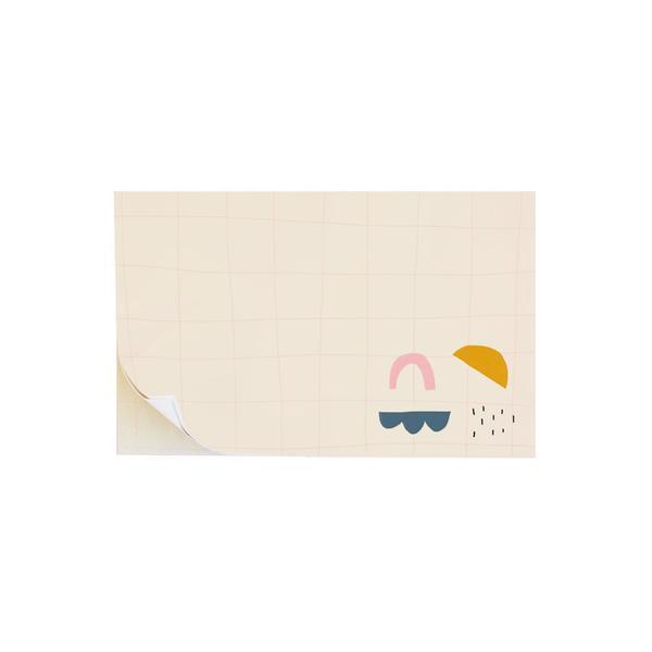 Crosshatch & Shapes Sticky Notes