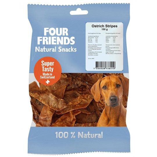 FourFriends Dog Natural Snacks Ostrich Stipes (150 g)