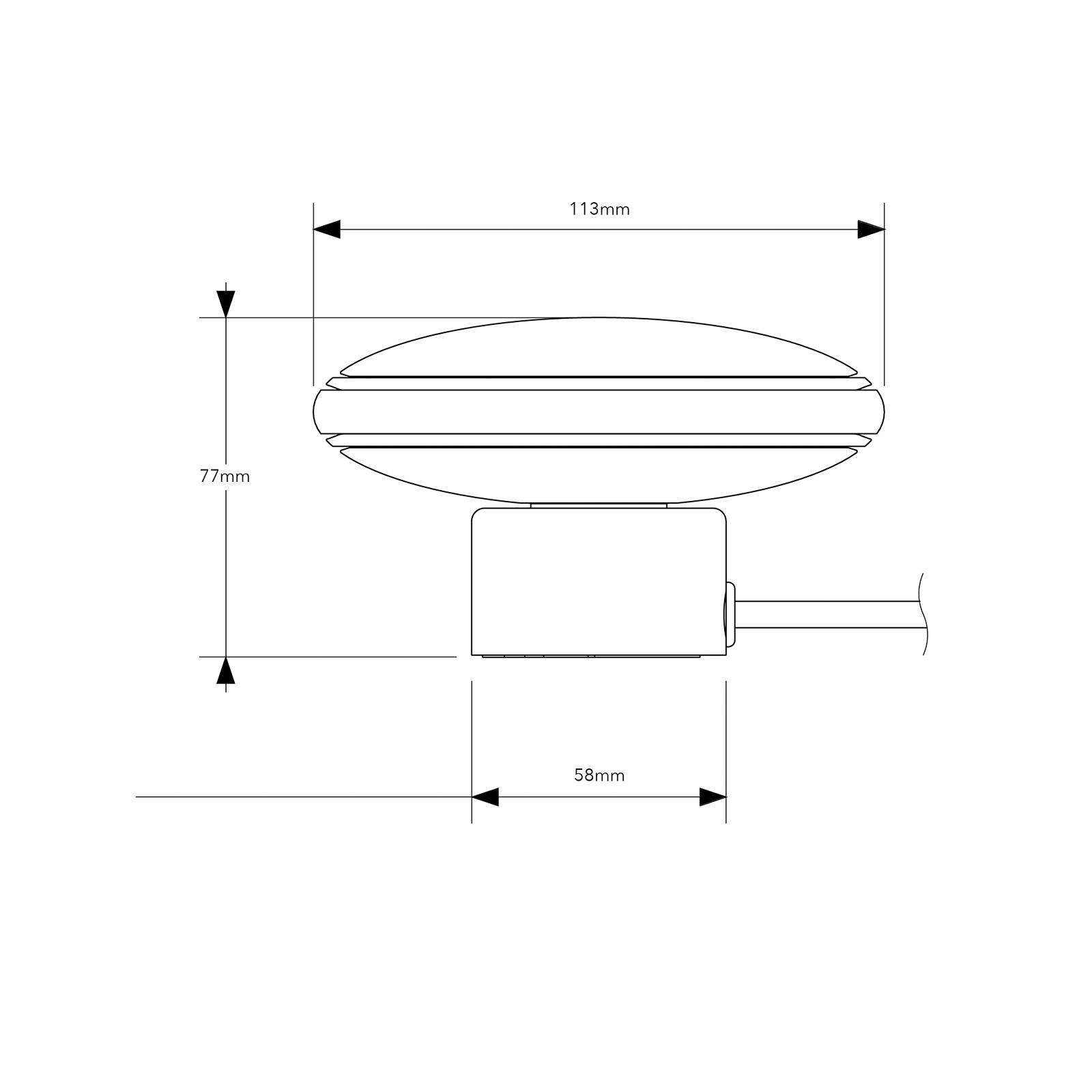 Shade ØS1 Mini -pöytälamppu, messinki, musta johto