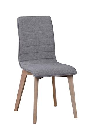 Gracy stol tyg ljusgrå/vitpigmenterad ek