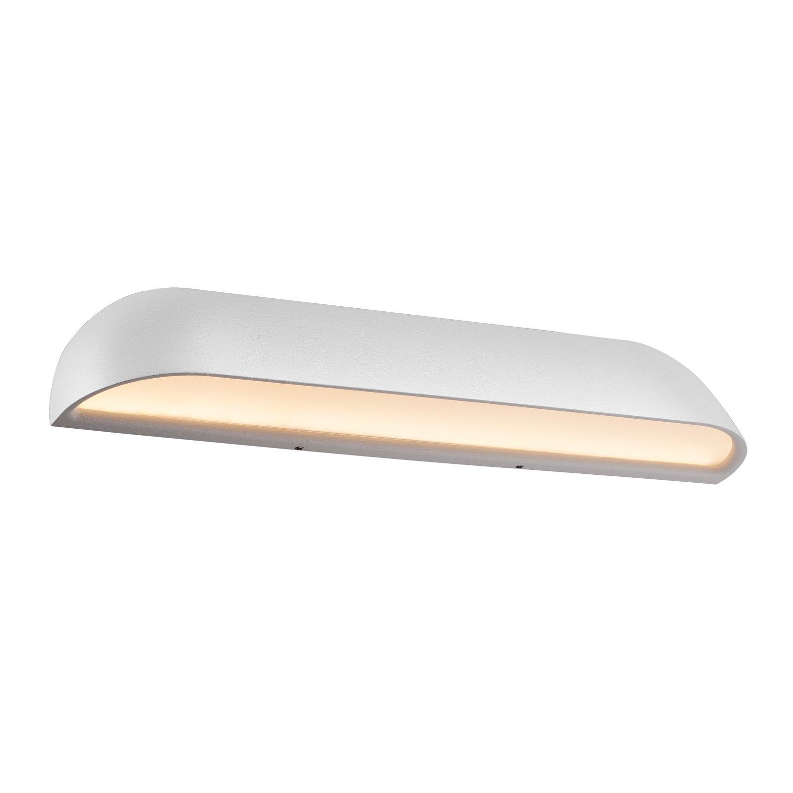 Utendørs LED-vegglampe Front 36, hvit