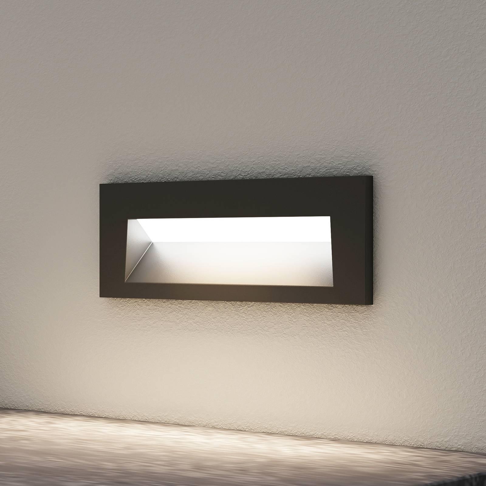 Arcchio Javis -LED-uppovalaisin, sileä, musta